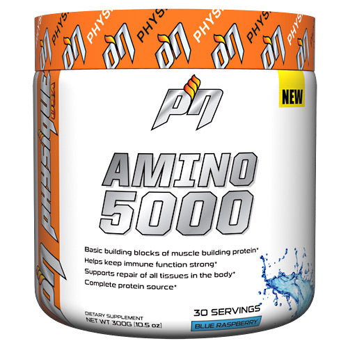 Amino 5000 Blue Raspberry 300 Grams by Physique Nutrition