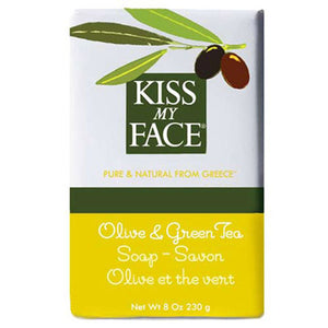 Bar Soap Olive & Green Tea, 8 Oz by Kiss My Face (2588886040661)