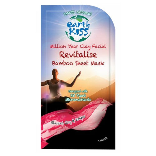 Bamboo Sheet Mask Revitalise .59 Oz by Earth Kiss