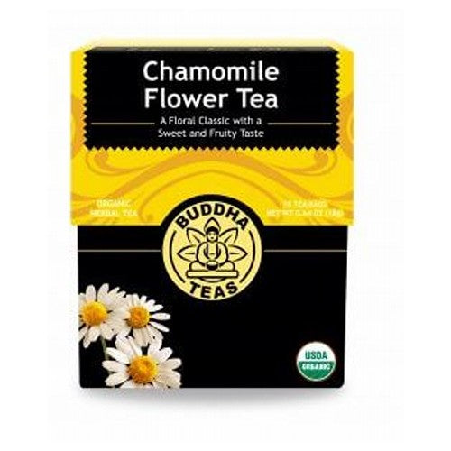 Organic Chamomile Flower Tea 18 Bags by Buddha Teas