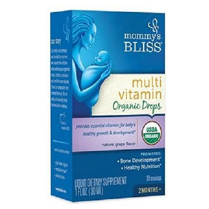 Organic Multi Vitamin Baby Drops 1 Oz by Mommys bliss (2587873542229)
