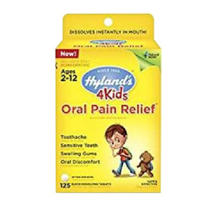 4 Kids Oral Pain Relief 125 Tabs by Hylands