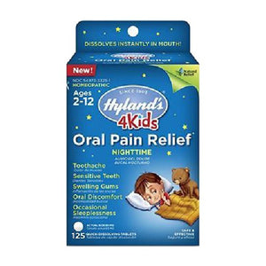 4 Kids Oral Pain Relief Nighttime 125 Tabs by Hylands (2590025285717)