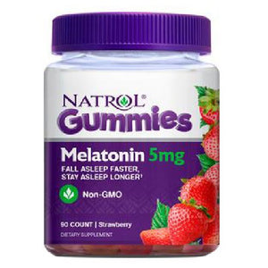 Gummies Melatonin Strawberry 90 Count by Natrol (2590025842773)