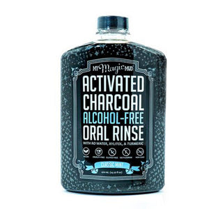 Activated Charcoal Oral Rinse Classic Mint 14.2 Oz by My Magic Mud