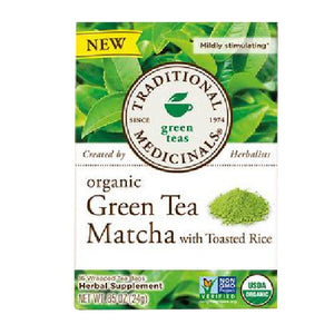 Organic Green Tea Matcha with Toasted Rice 16 Bags by Traditional Medicinals Teas (2587886092373)