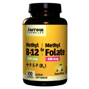 Methyl B-12 & Methyl Folate Lemon 100 Lozenges by Jarrow Formulas