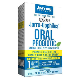 Jarro-Dophilus Oral Probiotic Peppermint 30 Lozenges by Jarrow Formulas (2590041079893)