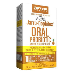 Jarro-Dophilus Oral Probiotic Pineapple 30 Lozenges by Jarrow Formulas
