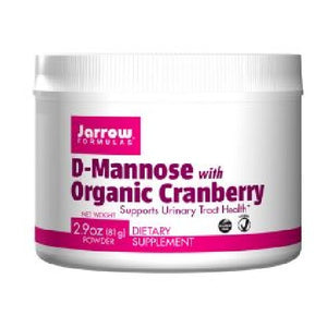 D-Mannose with Organic Cranberry 2.9 Oz by Jarrow Formulas