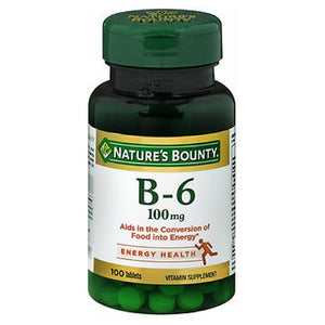 Nature's Bounty Vitamin B-6 24 X 100 Tabs by Nature's Bounty (2590043111509)
