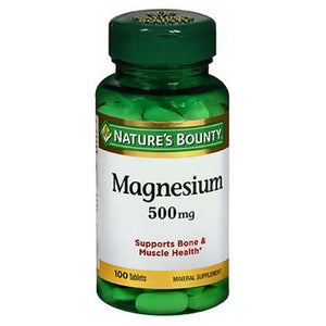 Nature's Bounty High Potency Magnesium 24 X 100 Tabs by Nature's Bounty