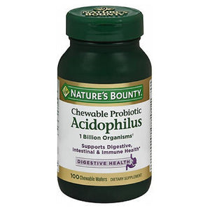 Natures Bounty Acidophilus Chewable Wafers 24 X 100 Chewable Wafers by Nature's Bounty (2590044323925)