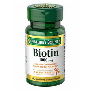 Nature's Bounty Biotin 24 X 100 Tabs by Nature's Bounty (2590044553301)
