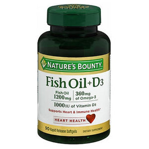 Nature's Bounty Omega 3 Plus D3 Fish Oil 24 X 90 Softgels by Nature's Bounty (2590044880981)