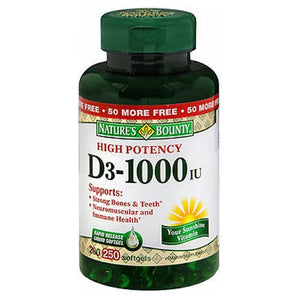 Nature's Bounty D3 High Potency 24 X 250 Softgels by Nature's Bounty (2590046617685)