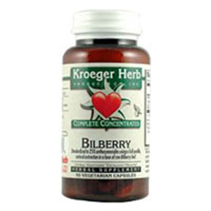 Bilberry 25% 90 Capsules by Kroeger Herb
