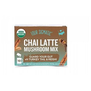 Chai Latte with Turkey Tail and Reishi 10 Count by Four Sigma Foods Inc (2587890253909)