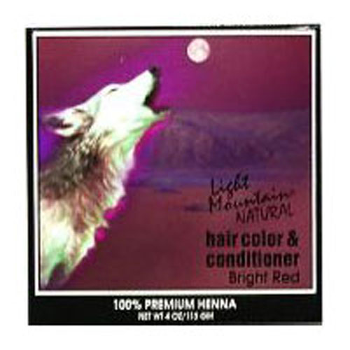 Natural Hair Color & Conditioner Bright-Red 4 Oz by Light Mountain