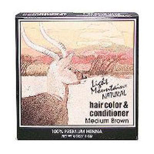 Natural Hair Color and Conditioner Brown-Medium 4 Oz by Light Mountain