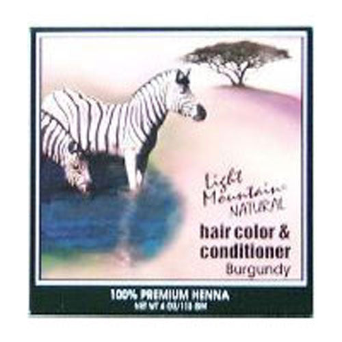Natural Hair Color and Conditioner Burgundy, 4 Oz by Light Mountain