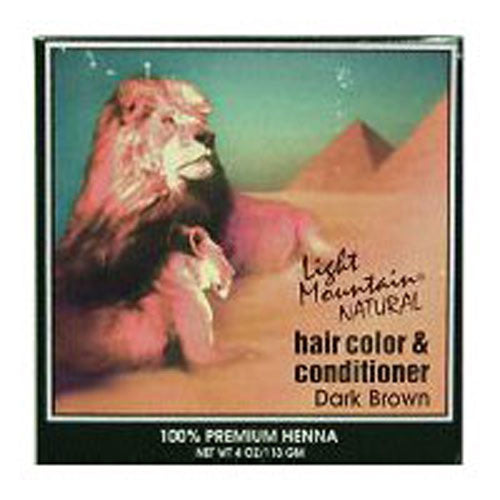 Natural Hair Color & Conditioner Dark-Brown 4 Oz by Light Mountain