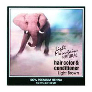 Natural Hair Color & Conditioner Light-Brown 4 Oz by Light Mountain