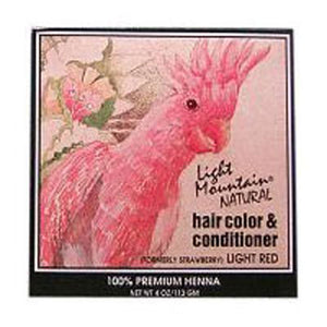 Narural Hair Color and Conditioner Light-Red 4 Oz by Light Mountain
