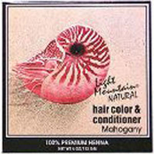 Natural Hair Color and Conditioner Mahogany 4 Oz by Light Mountain