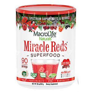 Miracle Reds 90 Day Supply 30 Oz by Macrolife Naturals