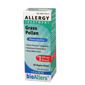 Bioallers Grass Pollen Allergy Relief 1 FL Oz by NatraBio (2583993581653)