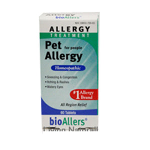 bioAllers Pet Allergy For People 60 Tabs by NatraBio (2588691071061)