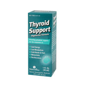 Thyroid Support 1 FL Oz by NatraBio (2583994335317)