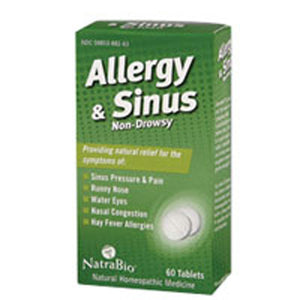 Allergy Sinus 60 Tabs by NatraBio