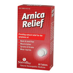 Arnica Relief 60 Tabs by NatraBio
