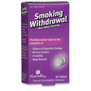 Smoking Withdrawal 60 Tablets by NatraBio