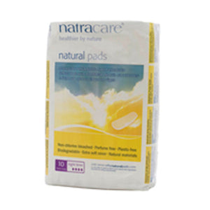 Night-Time/Overnight Pads 10 CT EA by Natracare (2584028446805)