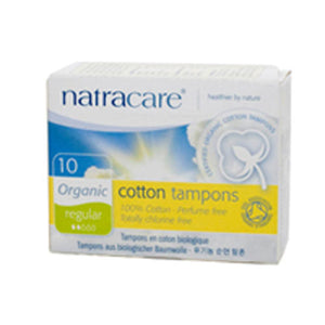 Tampons REGULAR, 10 CT by Natracare (2584028479573)