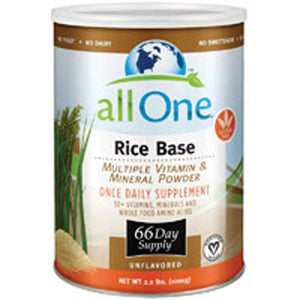Multiple Vitamin and Mineral Powder, Rice Base 1000 GRM (66 Day Supply) by All-One (Nutri-Tech) (2583969071189)