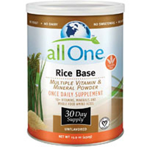 Multiple Vitamin and Mineral Powder, Rice Base 15.9 OZ (30 Day Supply) by All-One (Nutri-Tech)