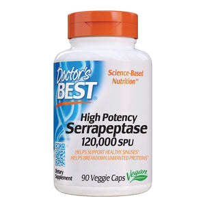 High Potency Serrapeptase 90 Veg Capsules by Doctors Best