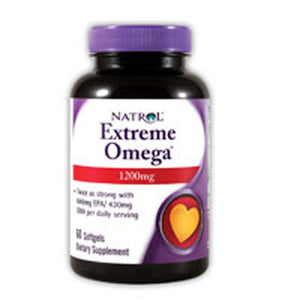 Extreme Omega Fish Oil 60 Softgels by Natrol (2584195137621)