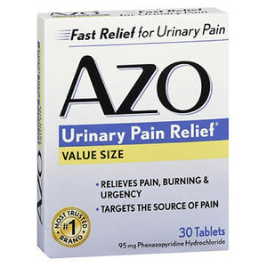 Azo Standard Urinary Pain Relief 30 tabs by Amerifit Nutrition