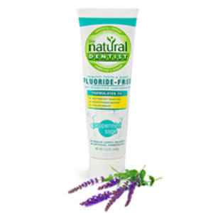 Toothpaste Floride Free Peppermint Sage, 5 Oz by Natural Dentist