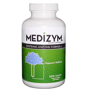 Medizym Systemic Enzyme Formula 200 Tabs by Naturally Vitamins