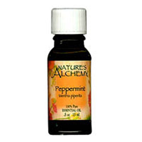 Pure Essential Oil Peppermint 0.5 Oz by Natures Alchemy