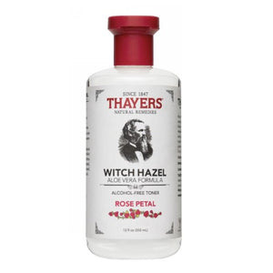 Witch Hazel Alcohol-Free Rose w/Aloe Vera 12 OZ by Thayers (2584018649173)