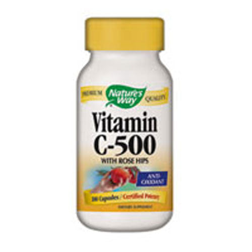 Vitamin C 500 W/ROSE HIPS, 100 CAP by Nature's Way