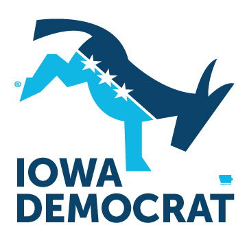 Iowa Democrat - Kicking ® - Square 4x4 Sticker