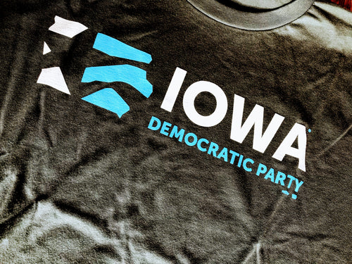 Iowa Democratic Party - Signature Logo Asphault Tee
